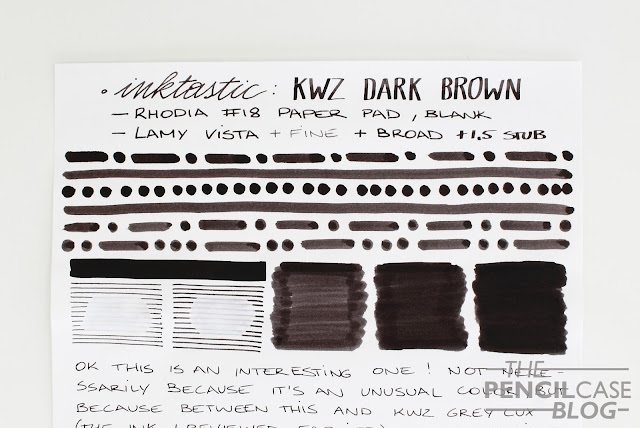 review: KWZ Dark Brown ink
