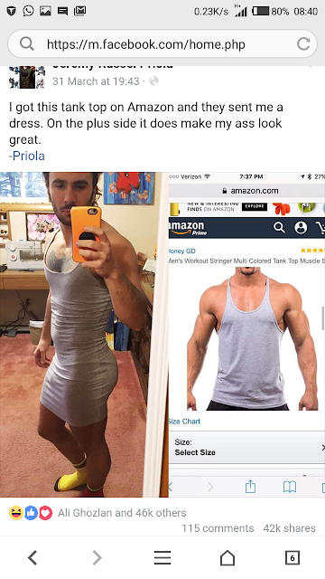 Facebook user asked for tank top but got dress from Amazon
