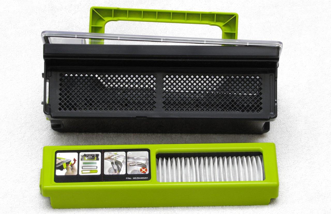 LG Hom-Bot Square 3.0, contenitore per la polvere e gruppo filtri
