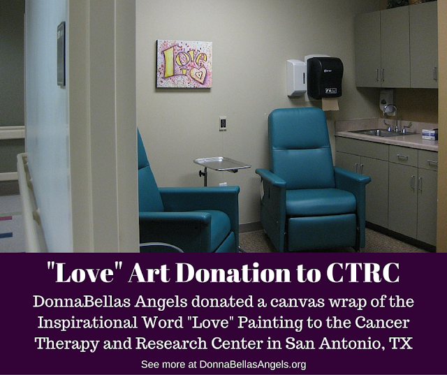"""Love"" Inspirational Word Art Donation to CTRC Medical Clinic in San Antonio, TX"