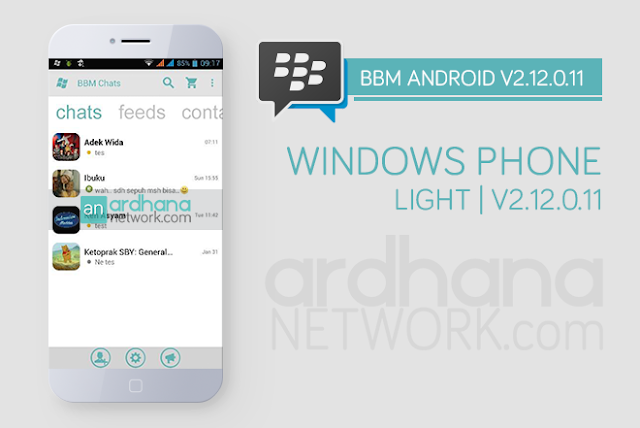 BBM Windows Phone Light - BBM Android V2.12.0.11