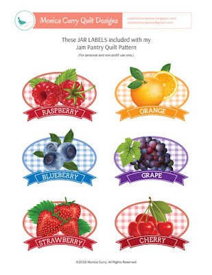 Free Jam Jar Labels Sheet