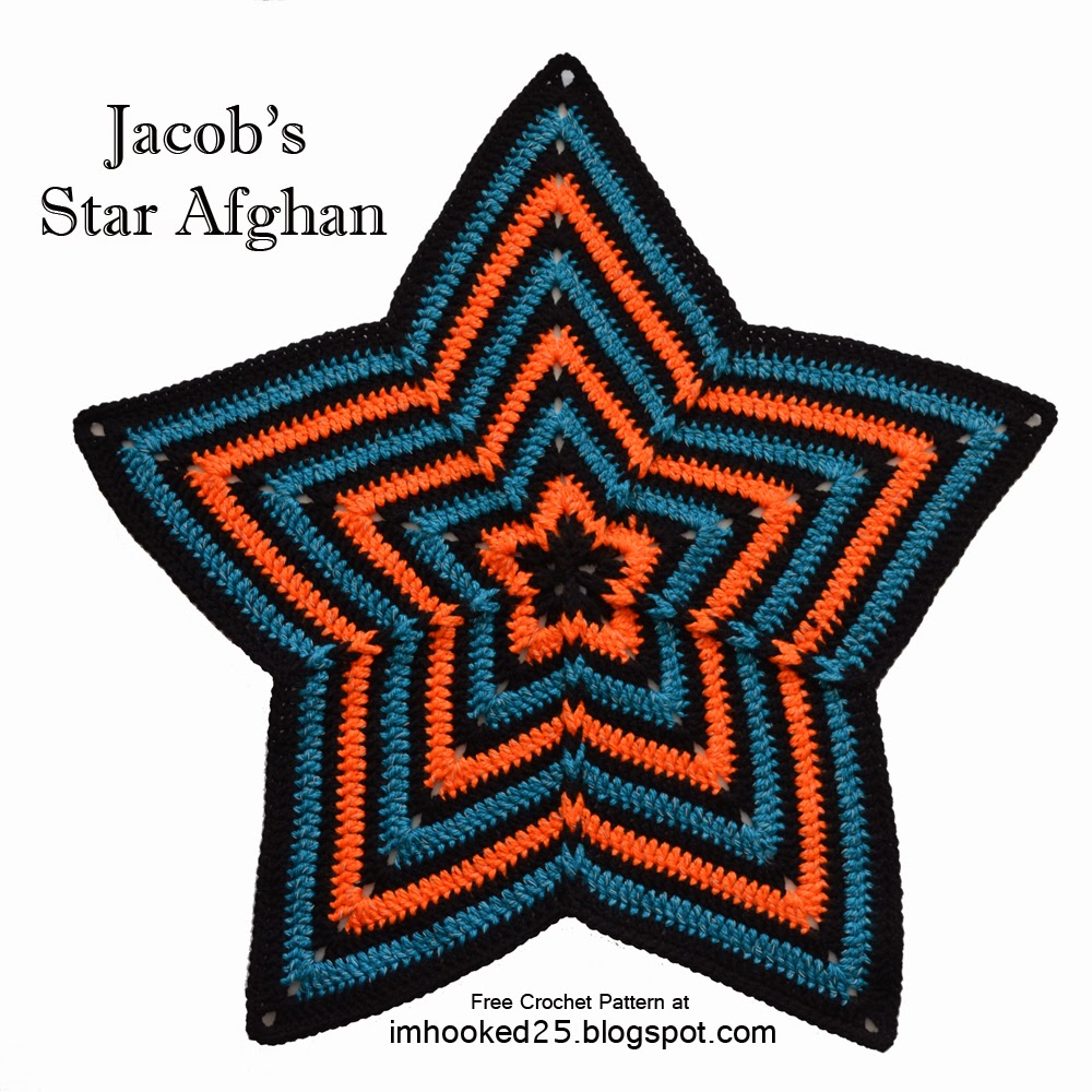 Jacob's Star Afghan | Free Crochet Pattern by I'm Hooked!