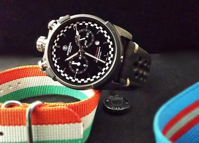 大阪 梅田 ハービスプラザ WATCH 腕時計 ウォッチ ベルト  公式 CT SCUDERIA CTスクーデリア チェックフラッグ Triumph トライアンフ Norton ノートン フェラーリ FIBRA DI CARBONIO フィブラ ディ  CS10135
