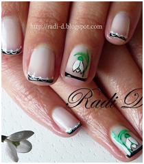 Декорация на нокти с мартенички и кокичета
