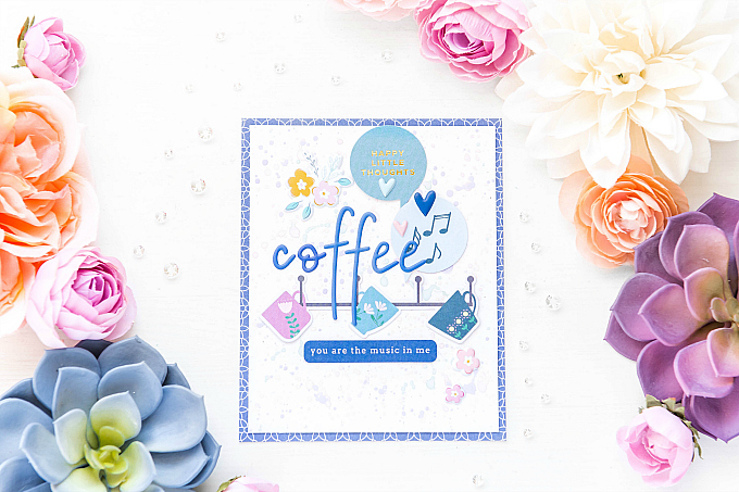 Coffee You are The Music in Me - Pinkfresh Studio Instagram Hop | Pattern Paper Play