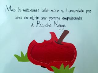 Les contes de fées à toucher: Blanche Neige - la pomme empoisonnée