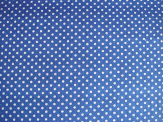 Blue fabric with white dots