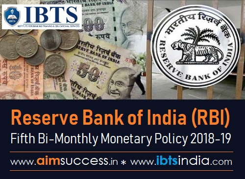 RBI Fifth Bi-Monthly Policy 2018-19