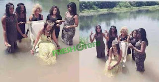 Lady Takes 'Bridal Shower' To A Big River With Her Friends (Photos)