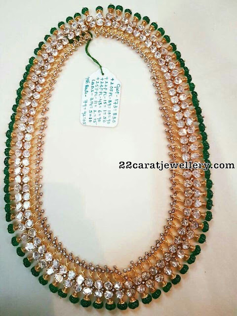 Pachi Design Long Chain Emerald Beads
