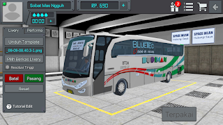Review Livery Bus BUSSID Budiman HD + Link Download Livery Bus BUSSID Budiman HD