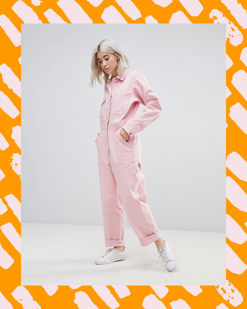 386832e436 That Millennial Pink Glossier Boilersuit