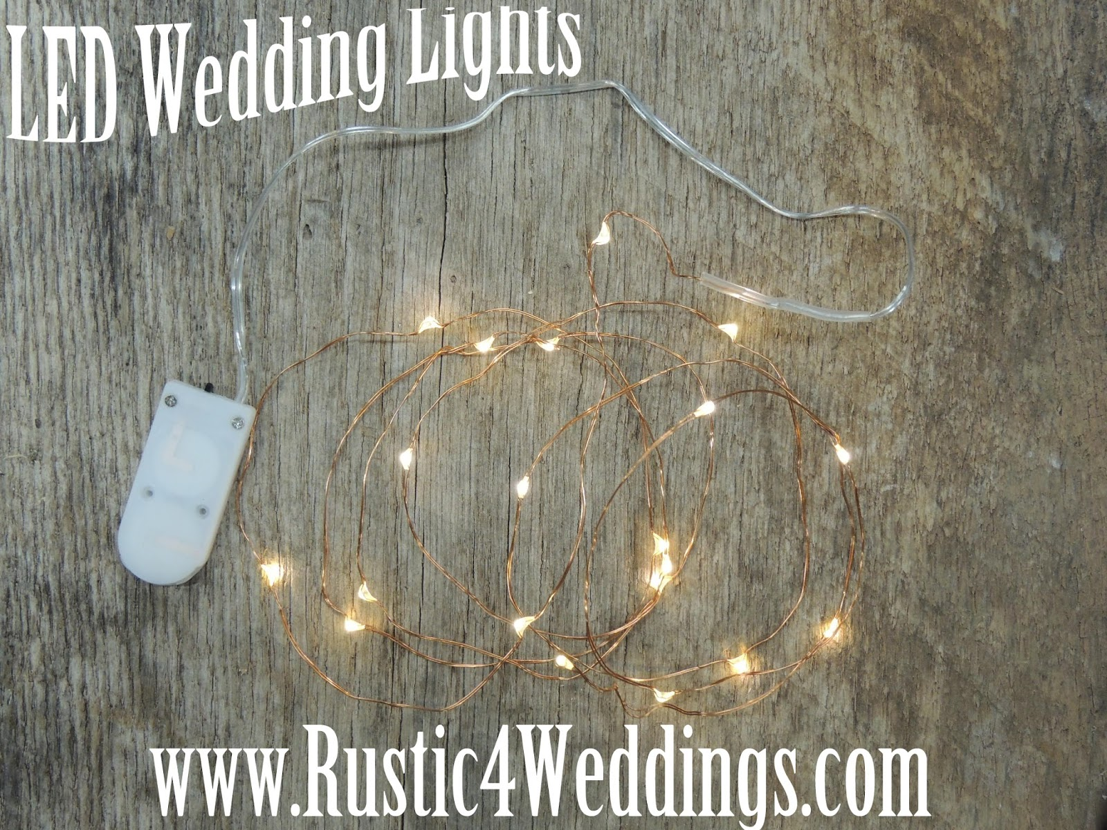 Led String Lights For Centerpieces : Rustic 4 Weddings: LED Fairy Lights- Battery Operated String Lights- Wedding Lights- Decorations ...