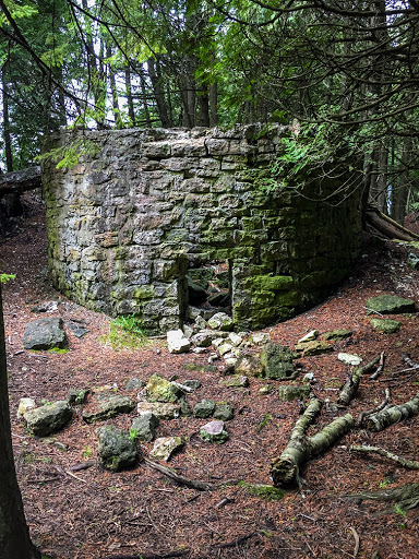 Abandoned Lime Kiln at Toft Point State Natural Area in Bailey's Harbor Door County