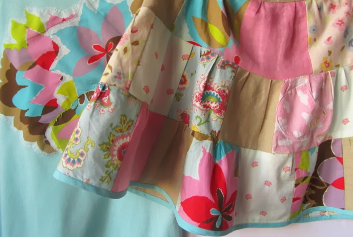 f42874fad elcuadernodeideas: Camiseta y falda patchwork