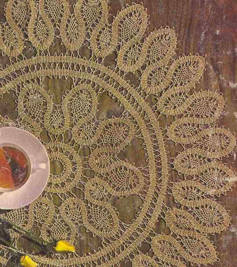"""Centro de Mesa """"Serpentina de Piñas"""" a Crochet"""