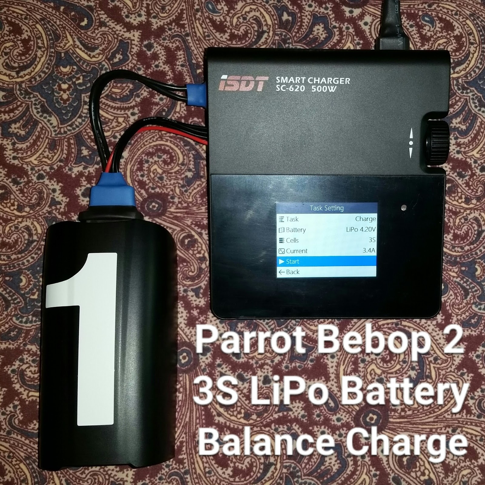 The High Pro Glow Parrot Bebop 2 Battery Charging Protection Adding Voltage Cutoff To A Circuit 3s Lipo Electrical Here Is My Isdt Sc 620 Charger Connected Custom Adapter Cable Shown In Pic Needed Complete Setup
