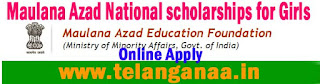 Maulana Azad Education Foundation (MAEF) Scholarships - Maulana Azad National scholarships for Girls 2016 Online Apply