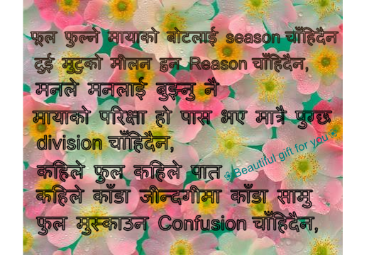 '' Nepali poem'' | Beautiful Gift For You