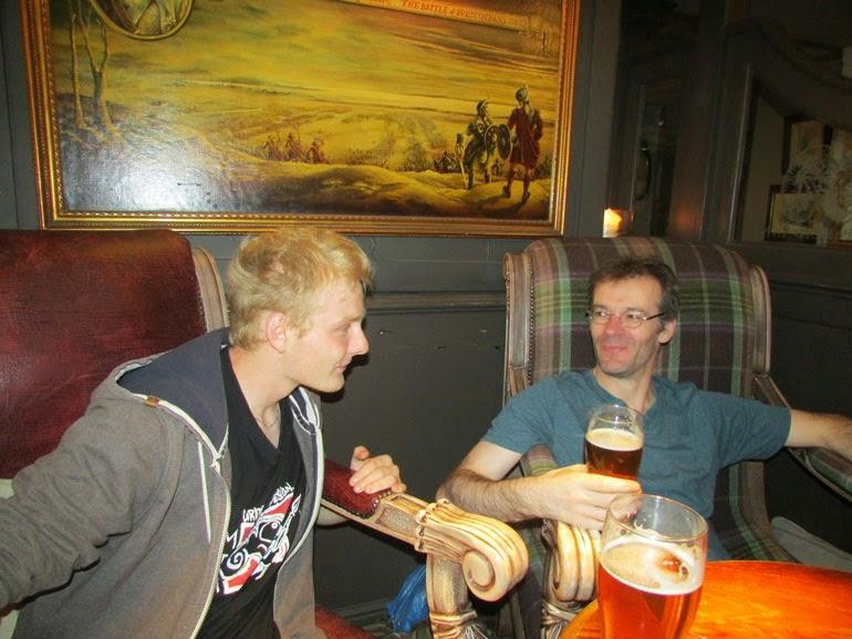 bière dans un pub