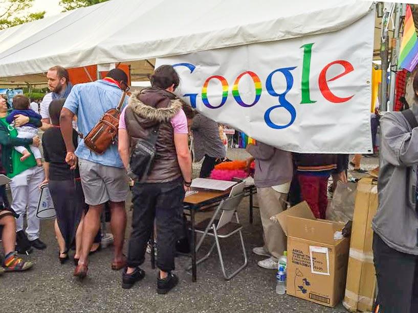 Google presence at Tokyo Rainbow Pride 2015, Tokyo, Japan.