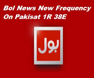 Bol News New Frequency On Pakisat 1R 38E