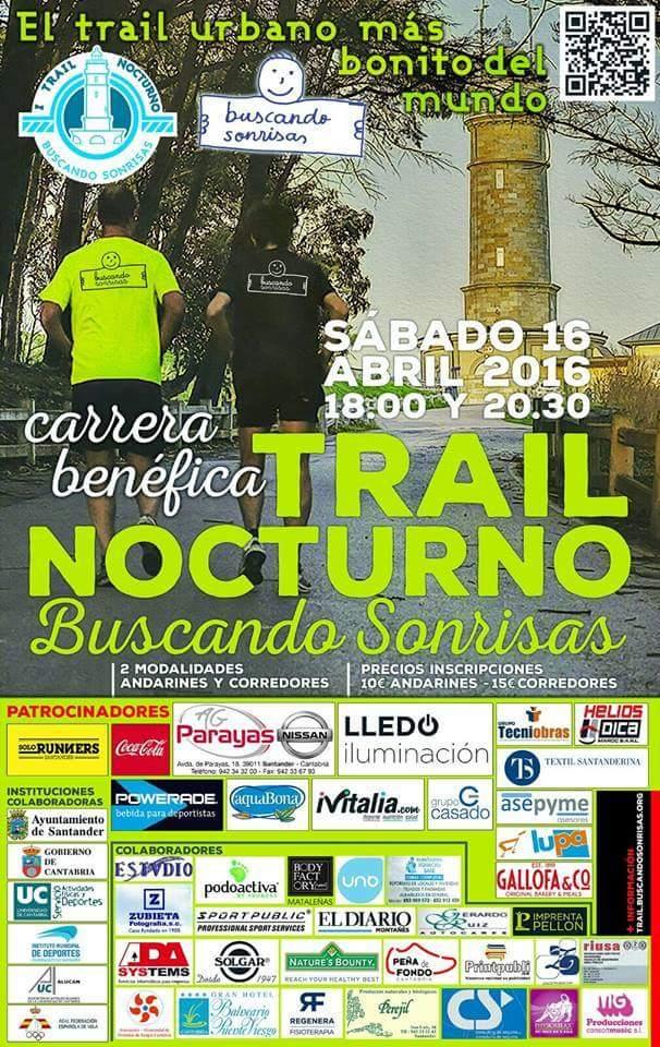Trail nocturno buscando sonrisas en Santander