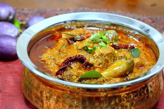 Achari Baingan Gosht ~ Pickle Mutton Curry