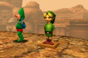 Ben Drowned and Tingle in The Legend of Zelda: Majora's Mask 3D