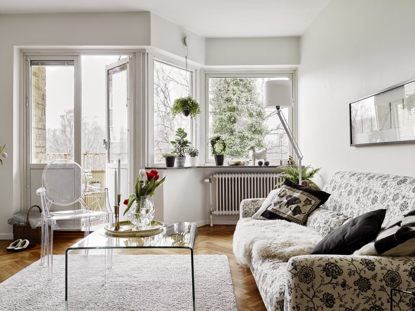 white and bright space