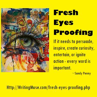 Fresh Eyes Proofing - Every author needs fresh eyes.