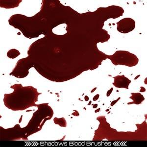 Pinceles photoshop sangre