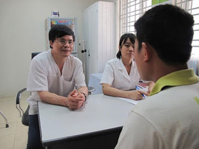 Anh Nguyễn Văn Điều, trong một lần tái khám