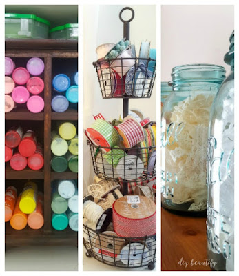 Organizing Craft Supplies by Color | diy beautify