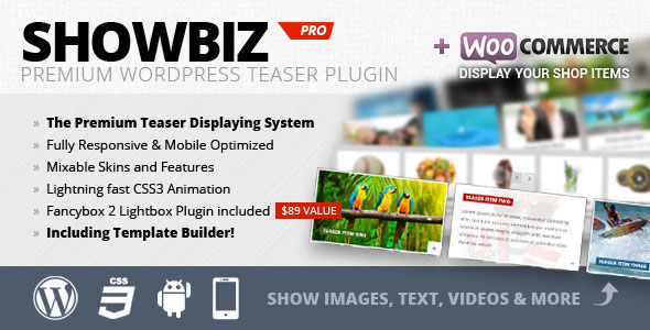 Free Download Showbiz Pro V1.7.4 Responsive Teaser WordPress Plugin