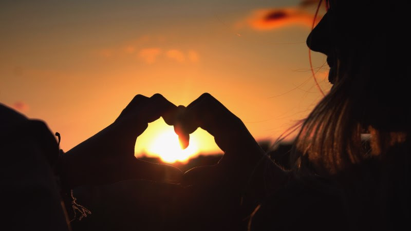 Share the Love at Sunset