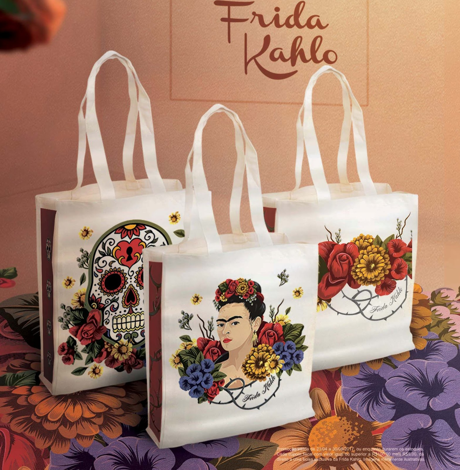 FRIDA KAHLO ESTAMPA ECOBAGS EM CAMPANHA DA LIVRARIAS CURITIBAFrida Kahlo  estampa ecobags exclusivas em campanha da Livrarias Curitiba 15594132c06