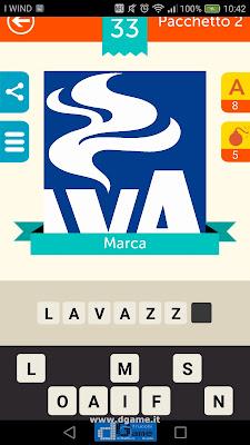 Iconica Italia Pop Logo Quiz soluzione pacchetto 2 livelli 33-50