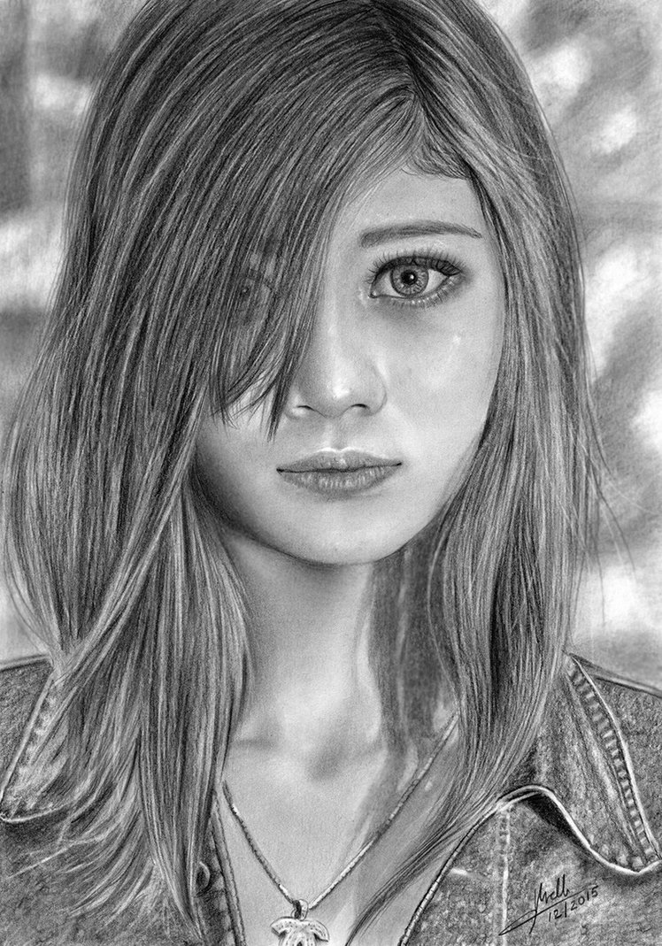 11-Sweet-Teens-Isabel-Morelli-iSaBeL-MR-Pencil-Black-Pastel-and-Charcoal-Portrait-Drawings-www-designstack-co