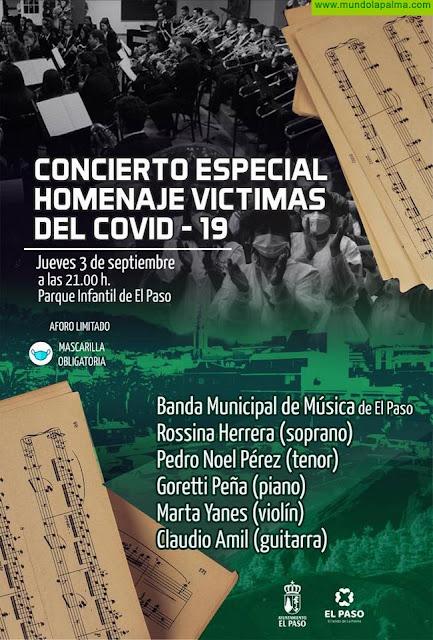 La Banda Municipal de Música de El Paso dedica este jueves un 'Concierto Homenaje' a las víctimas de la pandemia
