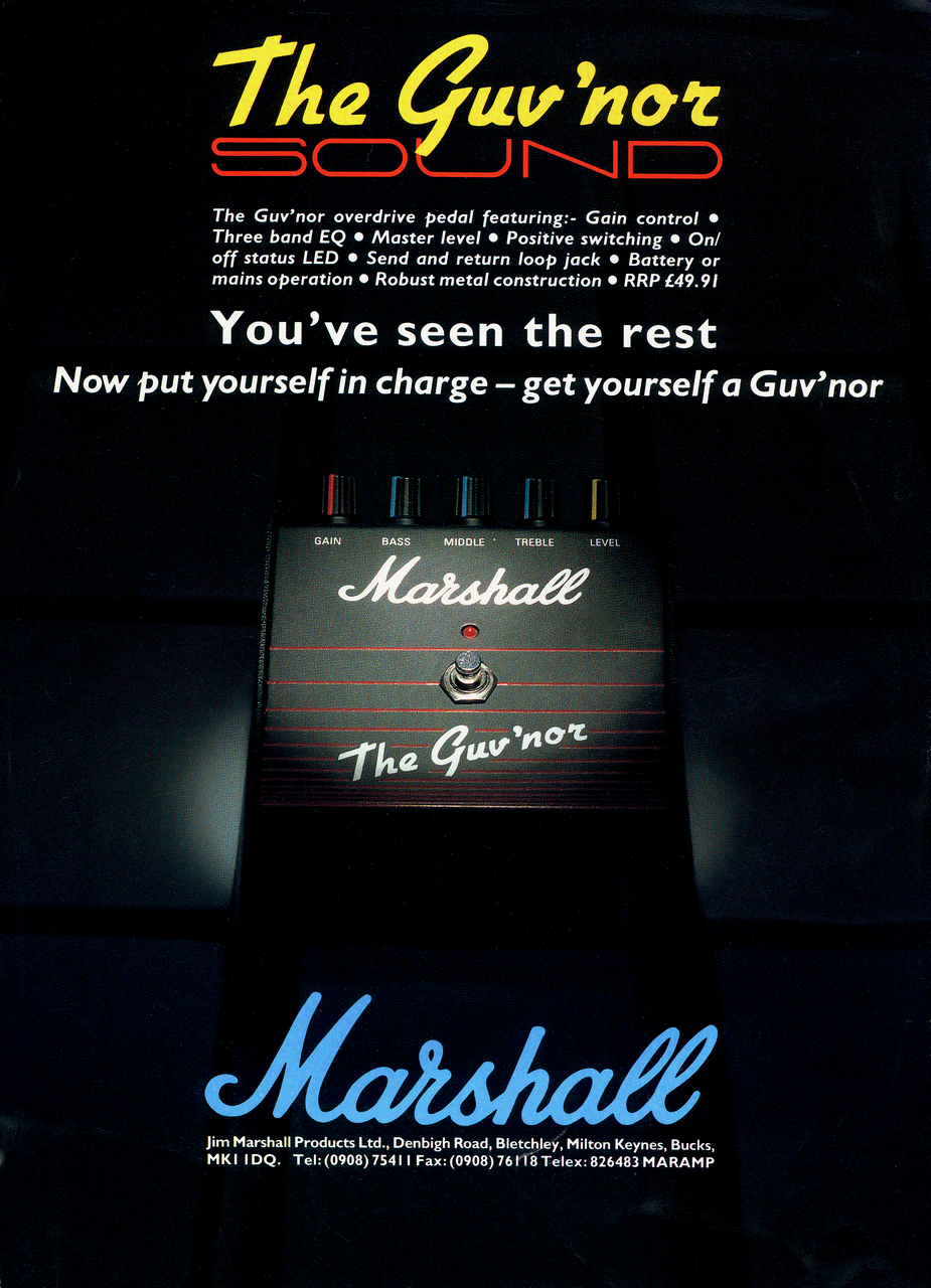 Marshall Guv'nor Guitar Drive Pedal - 1988 | Planet Botch
