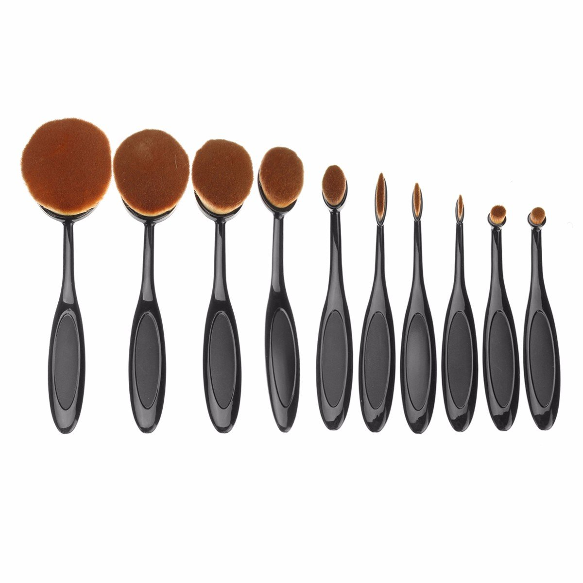 Set pensule pentru make-up, fond de ten, counturing si ochi
