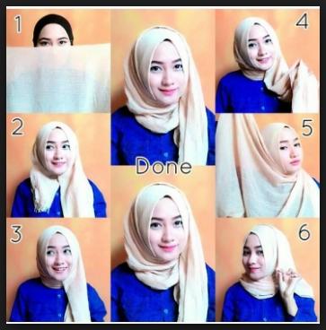 cara memakai jilbab pashmina simple untuk kuliah