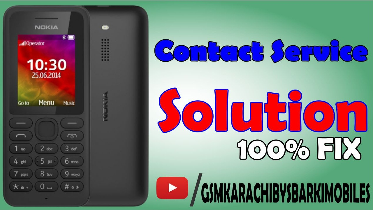 Nokia 130 RM-1035 Contact Services Solution - Gsm Fast and Fix