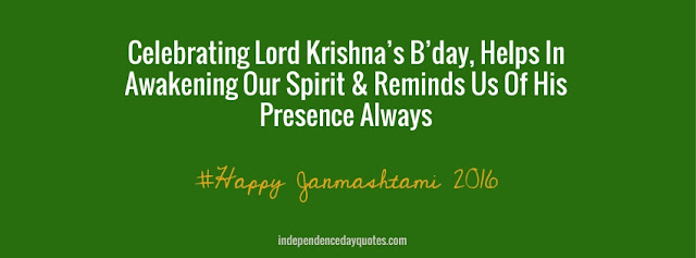 Happy Janmashtami images with english quotes for facebook cover, timeline