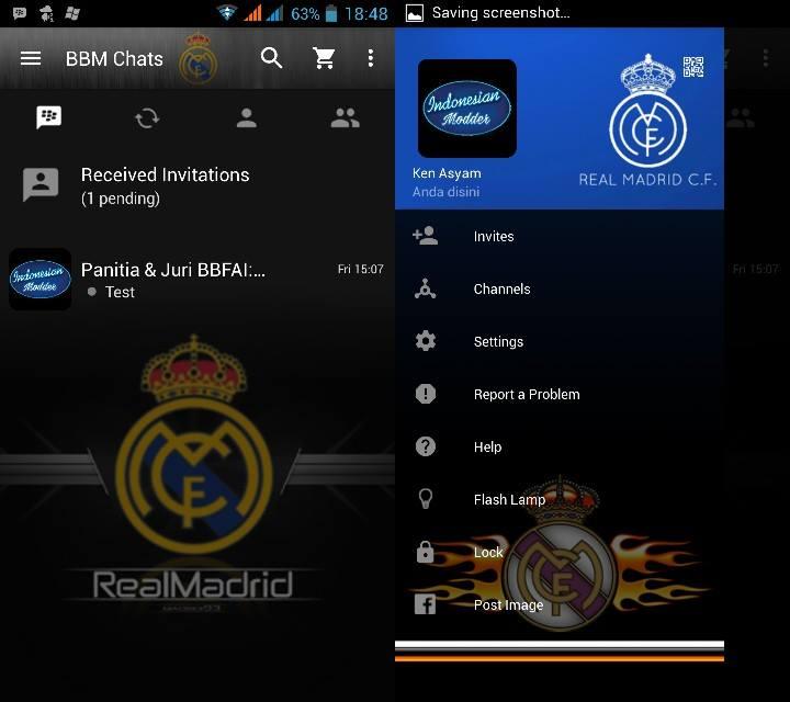 BBM Real Madrid versi 2.11.0.16 Apk