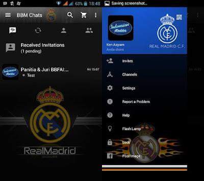 BBM MOD Real Madrid versi Terbaru dan Versi Lama