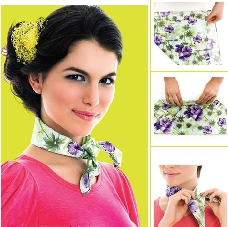 Gambar model scarf atau syal kalung leher