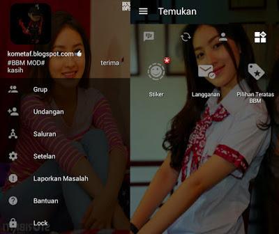 BBM MOD v3.0.1.25 Natastha Wilona/ Reva Anak Jalanan APK
